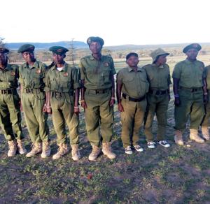 Women rangers during training period.