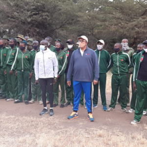 CWCT rangers ready for a morning run with Eliud Kipchoge